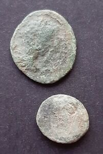 ROMAN PROVINCIAL COINS. LOT OF 2 COINS