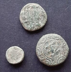 ANCIENT GREEK COINS. LOT OF 3 COINS
