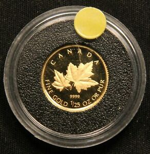 Click now to see the BUY IT NOW Price! 2009 CANADA GOLD MAPLE LEAVES 1/25 OZ .9999 FINE PROOF GOLD 50 CENTS SERIES
