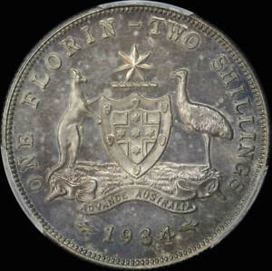 Click now to see the BUY IT NOW Price! 1934 MELBOURNE PROOF FLORIN PCGS PR65