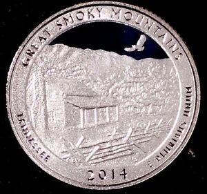 2014 S 25C ATB QUARTER GREAT SMOKY MOUNTAINS RU GDC CLAD