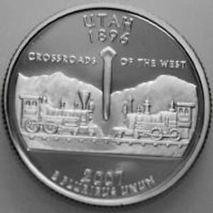 2007 S 25C STATE QUARTER WYOMING RR GDC COPPER NICKEL CLAD 50 CENT SHIPPING