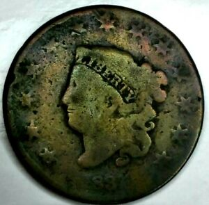 1831 P 1C CORONET LIBERTY HEAD LARGE CENT 19SUU0706 ONLY 50 CENTS FOR SHIPPING