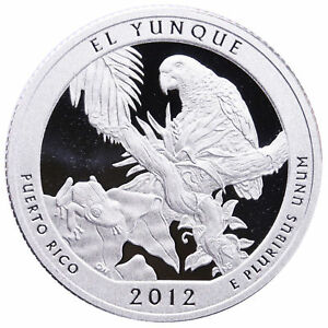 2012 S 25C ATB QUARTER EL YUNQUE LTO GDC CLAD ONLY 50 CENTS FOR SHIPPING