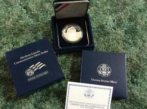 2009 P ABRAHAM LINCOLN COMMEMORATIVE SILVER DOLLAR PROOF IN ORIGINAL MINT ISSUE