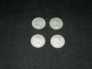 CANADA SILVER DIMES 10 CENTS / LOT OF 4 COINS  3  1960  1  1961