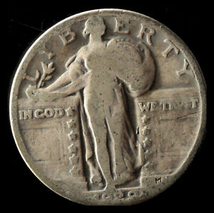 1929 P STANDING LIBERTY 90  SILVER QUARTER SHIPS FREE. BUY 5 FOR $2 OFF