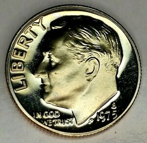 1975 S 10C ROOSEVELT  DIME 19OC0704 3 GDC PROOF CLAD  ONLY 50 CENTS FOR SHIPPING