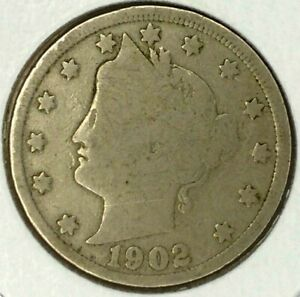 1902 P  5C LIBERTY HEAD NICKEL 19LTA0717  ONLY 50 CENTS FOR SHIPPING
