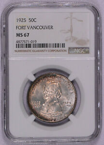 Click now to see the BUY IT NOW Price! 1925 FORT VANCOUVER COMMEMORATIVE HALF MS67 NGC MINT STATE 67