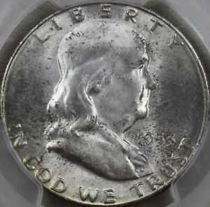 1953 S PCGS MS66 FRANKLIN HALF DOLLAR CAC APPROVAL LIGHT TONING