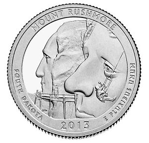 2013 S 25C ATB QUARTER MOUNT RUSHMORE RR GDC CLAD ONLY 50 CENTS FOR SHIPPING
