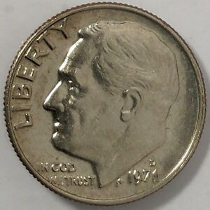 1971 D 10C ROOSEVELT DIME D716OS BU CLAD  ONLY 50 CENTS FOR SHIPPING