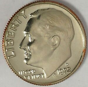 1972 D 10C ROOSEVELT DIME D1716RR BU CLAD ONLY 50 CENTS FOR SHIPPING