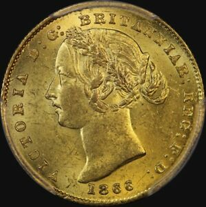 Click now to see the BUY IT NOW Price! 1866 SYDNEY MINT TYPE II SOVEREIGN CHOICE UNC  PCGS MS63