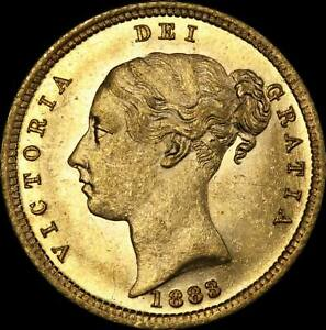 Click now to see the BUY IT NOW Price! 1883 SYDNEY YOUNG HEAD HALF SOVEREIGN UNC  PCGS MS62