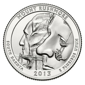 2013 D MOUNT RUSHMORE SOUTH DAKOTA ATB QUARTER FROM US MINT ROLL   FREE S/H