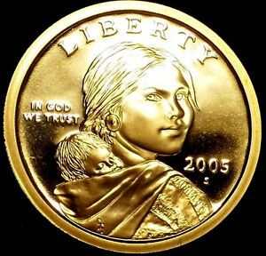 2005 S $1 NATIVE AMERICAN DOLLAR LRR GDC PROOF  ONLY 50 CENTS FOR SHIPPING