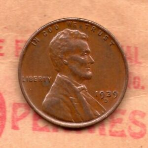 1939 D PENNY CIRCULATED MINTAGE: 15 160 000  39D0904