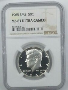 Click now to see the BUY IT NOW Price! 1965 KENNEDY HALF DOLLAR SMS MS 67 ULTRA DEEP CAMEO   A BLACK & WHITE MONSTER