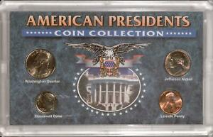 AMERICAN PRESIDENTS COIN COLLECTION | BU COINS IN LENS  RC16700