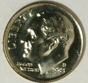 1993 D 10C ROOSEVELT DIME 18OT2003 BU CLAD ONLY 50 CENTS FOR SHIPPING