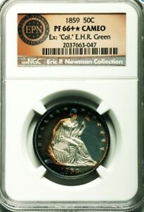 Click now to see the BUY IT NOW Price! 1859 50C SEATED LIBERTY HALF DOLLAR NGC PF 66 STAR CAMEO   EX NEWMAN; COL.GREEN