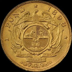 Click now to see the BUY IT NOW Price! SOUTH AFRICA 1898 GOLD POND KM 10.2 PCGS MS64