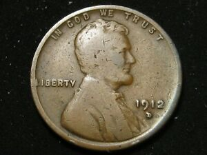 1912 D BETTER DATE LINCOLN WHEAT PENNY  B