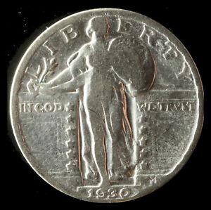 1930 P STANDING LIBERTY 90  SILVER QUARTER SHIPS FREE. BUY 5 FOR $2 OFF