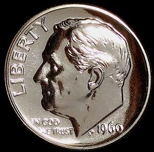 1960 P 10C ROOSEVELT DIME ORT GEM PROOF 90  SILVER ONLY 50 CENTS FOR SHIPPING