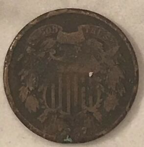 2 CENT 1867 TWO CENT U.S. COIN
