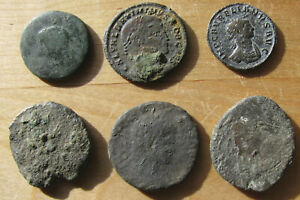Click now to see the BUY IT NOW Price! SIX LOW GRADE LARGE ROMAN BRONZE COINS   CHEAP