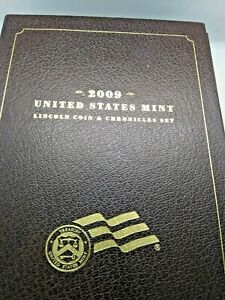 2009 US MINT $1 LINCOLN COIN & CHRONICLES SILVER PROOF SET OF 5  BOX   COA 1093