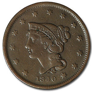1840 LARGE ONE CENT SM DATE VF   SKU13579