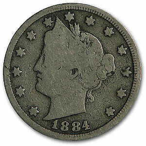 1884 LIBERTY HEAD V NICKEL GOOD   SKU1822