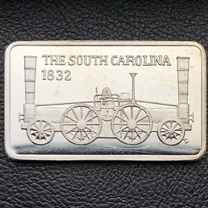 1832 THE SOUTH CAROLINA 1 OZ .999 SILVER ART BAR ONLY 5 000 MINTED MEM  9313