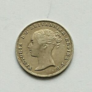 VICTORIA 3 PENCE 1840 HIGH GRADE LY .