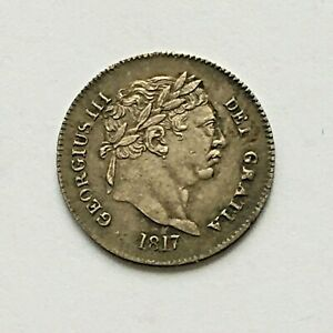 GEORGE III MAUNDY 3 PENCE 1817 HIGH GRADE