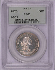 Click now to see the BUY IT NOW Price! 1870 JUDD J 957 PATTERN HALF DOLLAR PCGS GRADED PR62 OGH