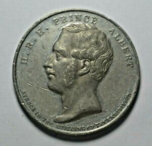 GREAT EXHIBITION/PRINCE ALBERT   WHITE METAL MEDAL 1851 BY W.J. TAYLOR