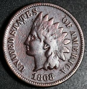 1868 INDIAN HEAD CENT WITH LIBERTY   FINE DETAILS