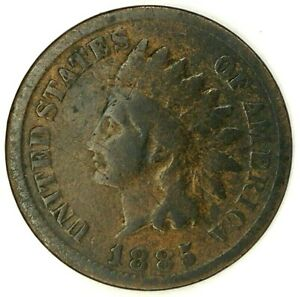 1885 P 1C INDIAN HEAD CENT 19COR0719 ONLY 50 CENTS FOR SHIPPING