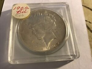 1922 P PEACE SILVER DOLLAR IS IN GEM BU CONDITION