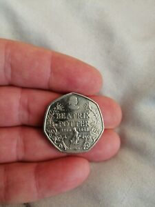 COLLECTORS COIN   50P 50 YEARS OF BEATRIX POTTER