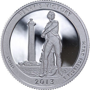 2013 S 25C ATB QUARTER PERRY'S VICTORY LOA GDC CLAD ONLY 50 CENTS FOR SHIPPING