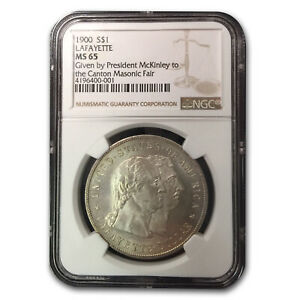 Click now to see the BUY IT NOW Price! 1900 LAFAYETTE DOLLAR MS 65 NGC  GIVEN BY PRES. MCKINLEY    SKU176447