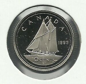 1995 10 CENTS PROOF COIN. NO SILVER.