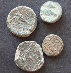 ANCIENT GREEK COINS. LOT OF 4 COINS