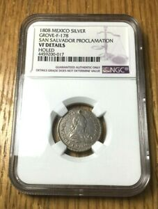 Click now to see the BUY IT NOW Price! 1808 EL SALVADOR MEDAL SILVER REAL SAN SALVADOR MEXICO NGC FERNANDO VII